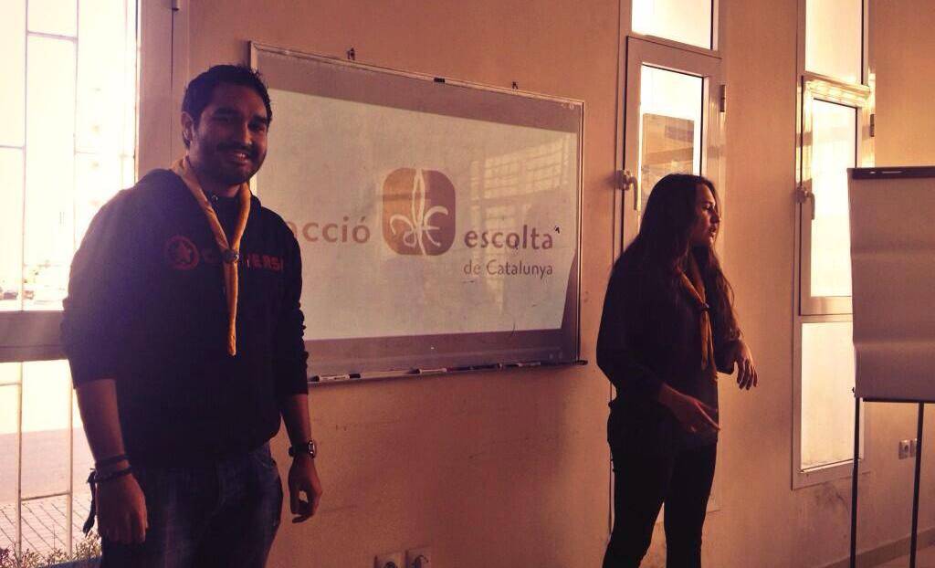 Julio i Laura representant a Acció Escolta de Catalunya